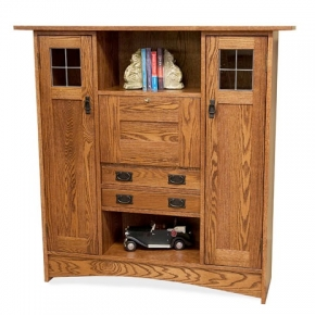 Fall front bookcase (Red Oak)