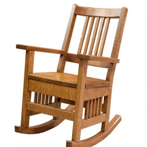 Child size mission rocking chair (1/4 sawn oak)